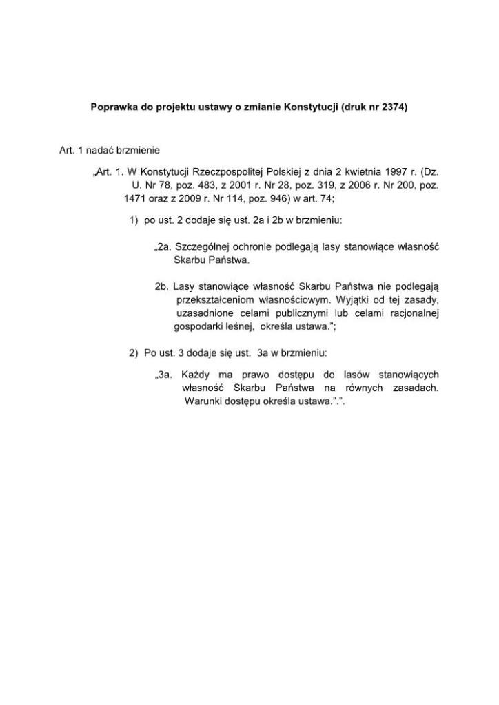 Autoprawka do ustawy o zmianie Konstytucji