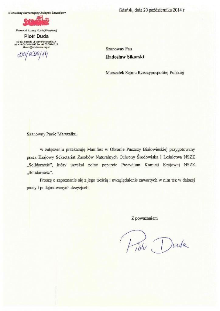 manifest w obronie Puszczy Białowieskiej _1