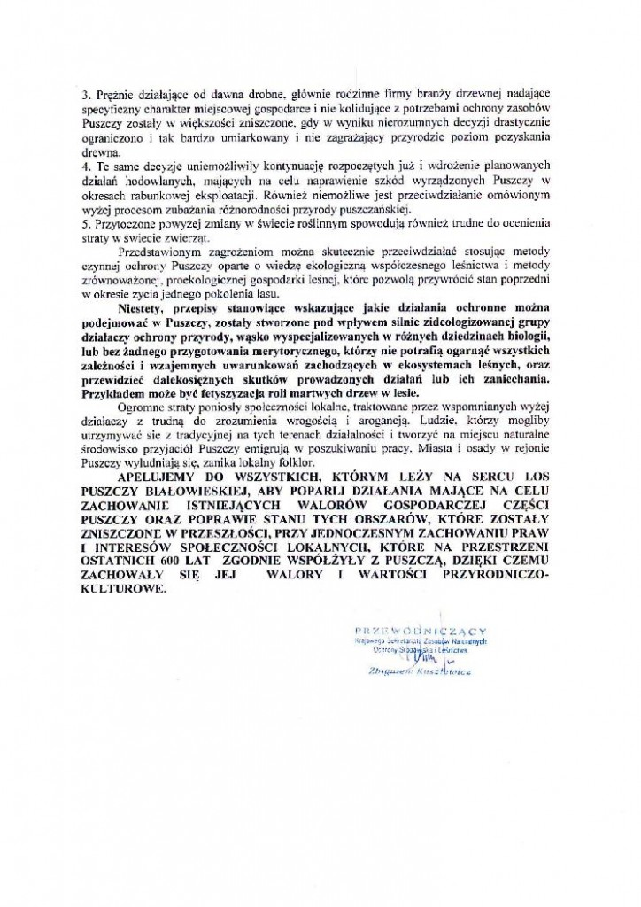 manifest w obronie Puszczy Białowieskiej _3