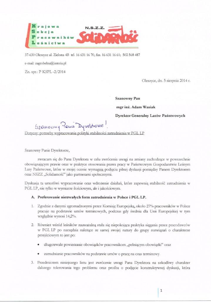 List umowy śmieciowe 1