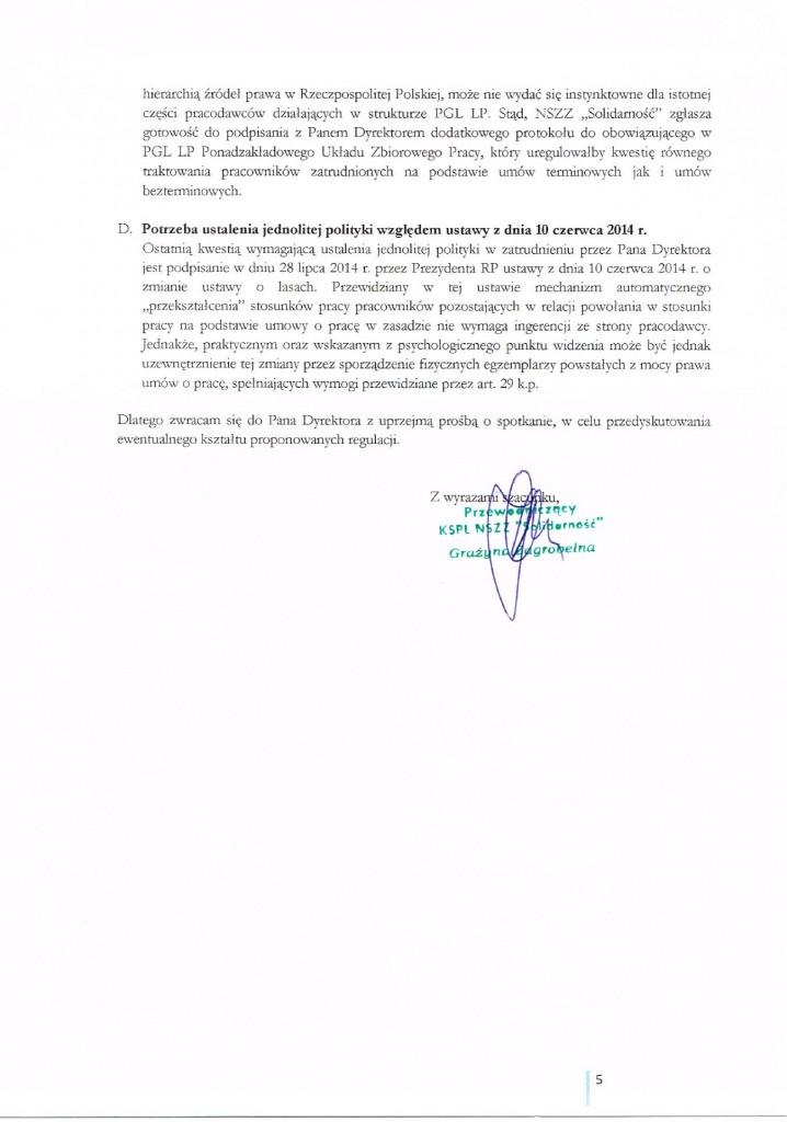 List umowy śmieciowe 5