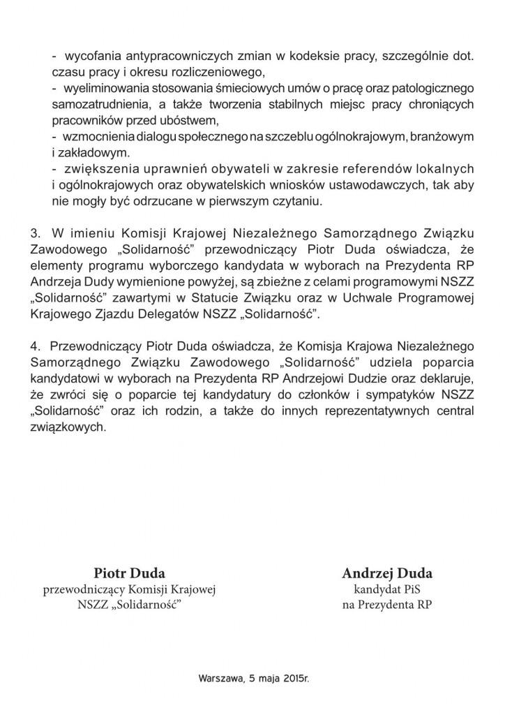 Umowa z NSZZ Solidarność 2